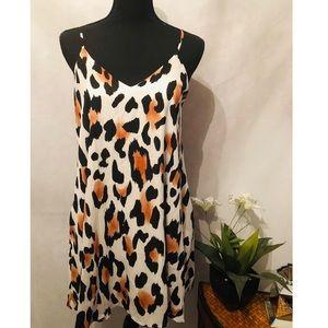 Dresses & Skirts - Leopard Print Swing Dress